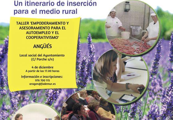 FADEMUR asesorará en materia de emprendimiento en el próximo taller que se desarrollará en Angüés