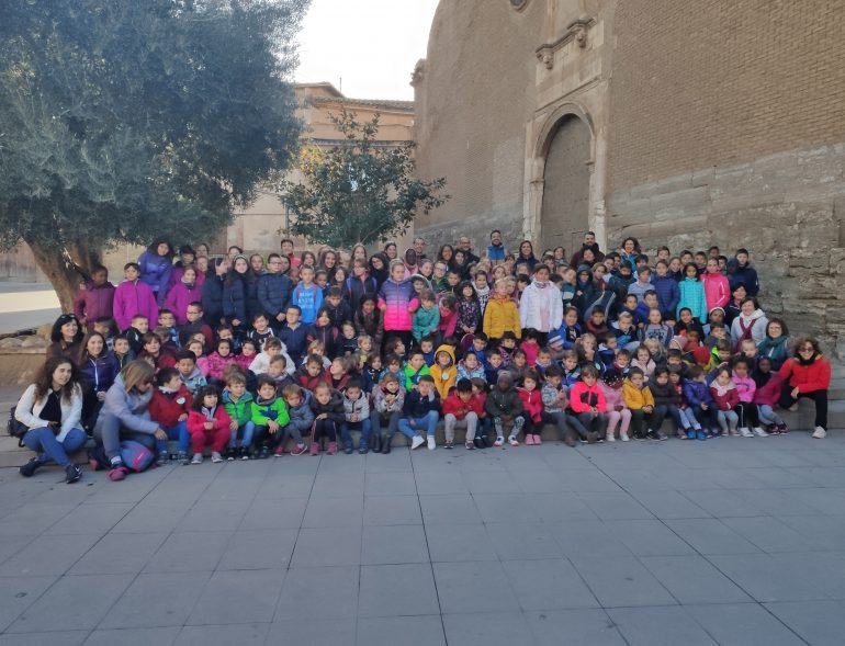 Más de 180 escolares participan en el encuentro del CRA El Trébol de San Esteban de Litera