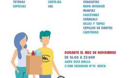 Bienvenidxs Refugiadxs Huesca organiza una campaña de recogida de alimentos, ropa y enseres