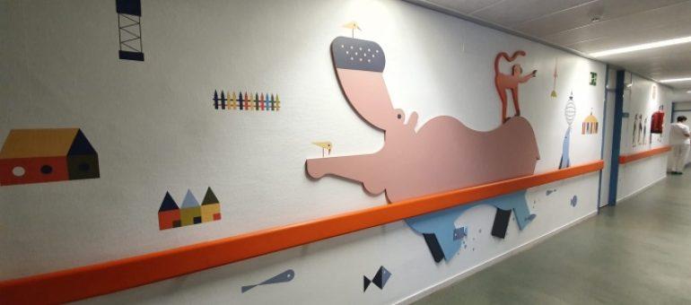 El área pediátrica del Hospital San Jorge de Huesca luce nueva decoración
