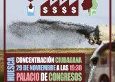 Casi 30 organizaciones convocan una concentración en Huescacon motivo de los premios Porc d'Or