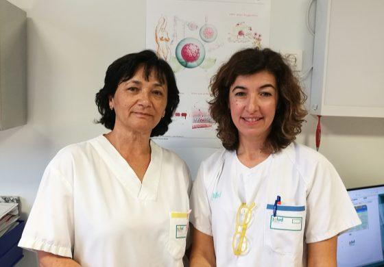 La doctora María Ángeles Aragón y la matrona Patricia Millanes, premio Ernest Lluch 2019 del PSOE Fraga