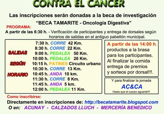 """La VIII """"Pedalea, patina, corre o anda contra el cáncer"""" de Tamarite de Litera vuelve a sus inicios y se hace competitiva"""