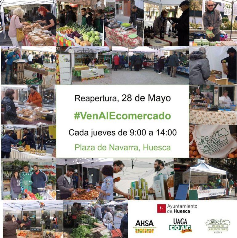 VUELVE EL MERCADO AGROECOLÓGICO DE HUESCA