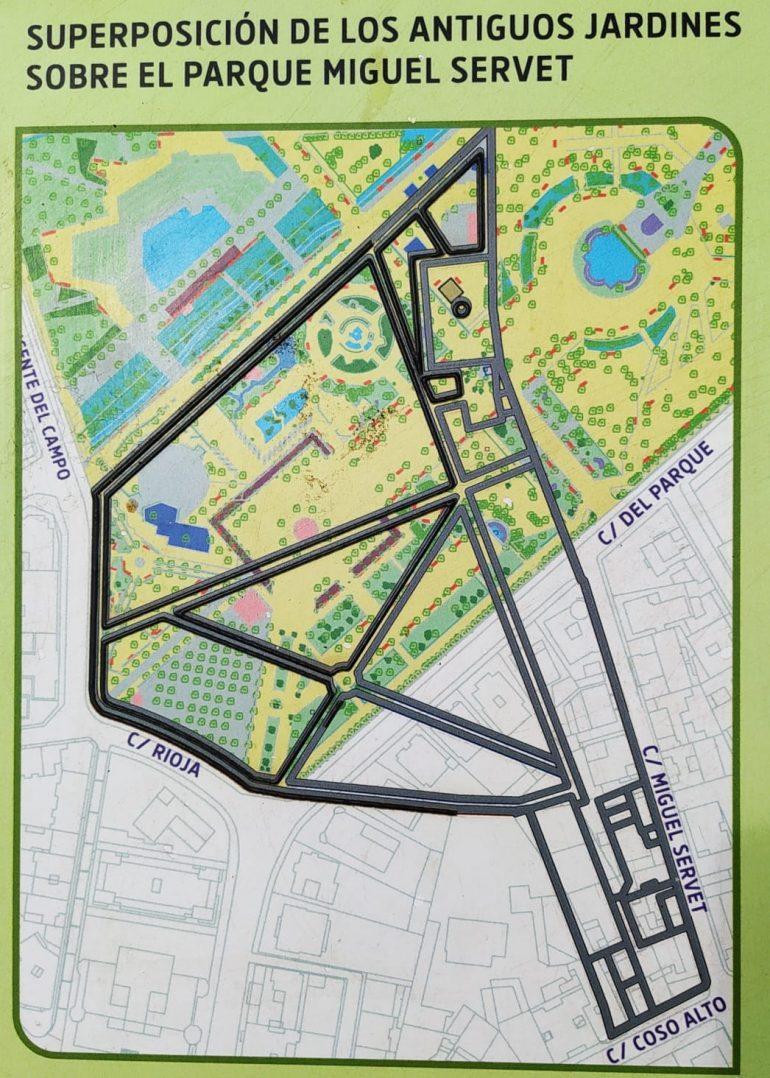 Las obras en los viales del parque de Huesca podrían sacar a la luz el jardín de Lastanosa