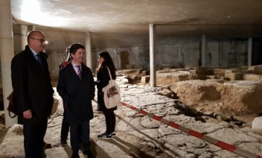 El Gobierno de Aragón inicia el proceso para declarar los restos romanos del Círculo Católico de Huesca como Bien de Interés Cultural