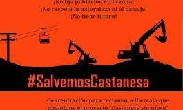 10S Cadena humana para que Ibercaja (Aramón) abandone el proyecto de Castanesa #SalvemosCastanesa