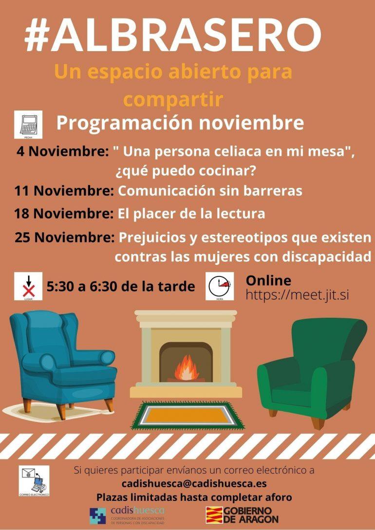 En noviembre los encuentros virtuales de cadis se harán #albrasero