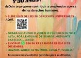 La juventud monegrina contribuye a la promoción y difusión de los Derechos Humanos mediante la realización de un video colaborativo