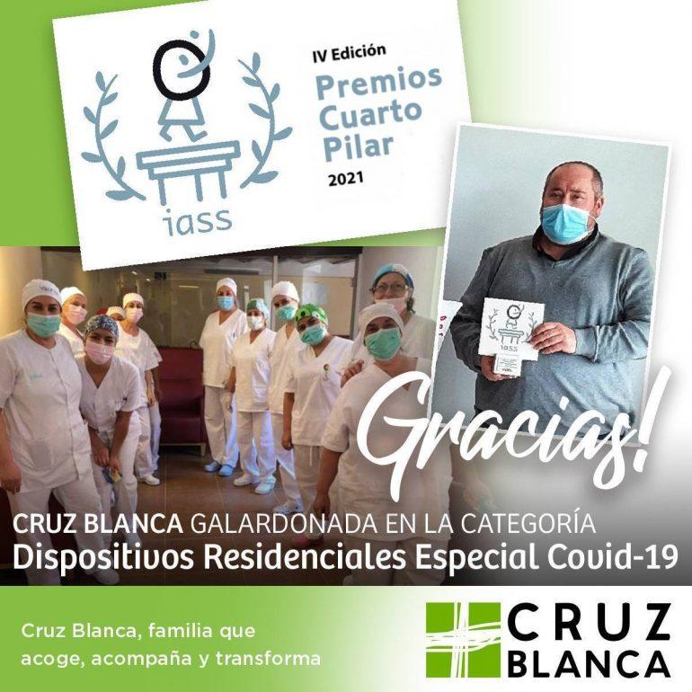 Cruz Blanca Aragón premiada en los IV Premios Cuarto Pilar