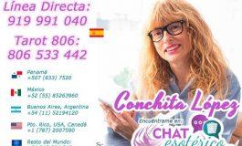 Vidente natural sin gabinete y sin cartas – tarotista y Vidente Conchita López Tarot opiniones teléfono