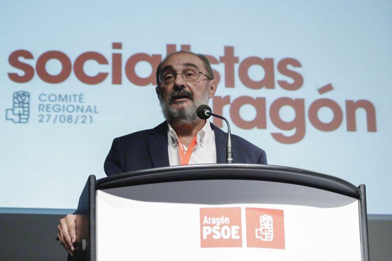JAVIER LAMBÁN ANUNCIA QUE SE PRESENTARÁ A LA REELECCIÓN COMO SECRETARIO GENERAL DEL PSOE ARAGÓN EN EL 17º CONGRESO DEL 6 Y 7 DE NOVIEMBRE