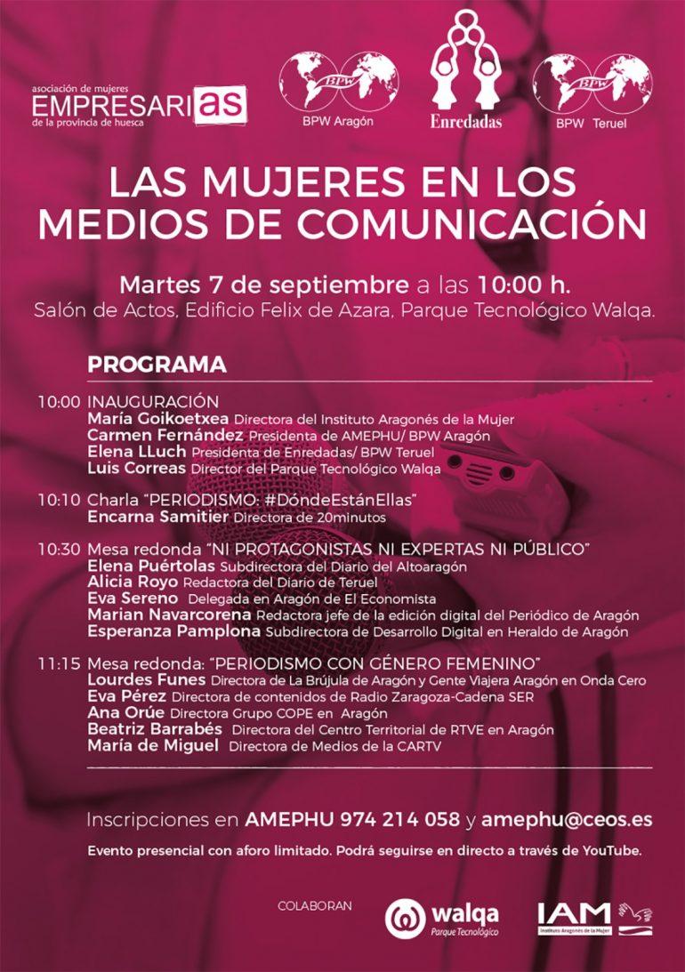 Las Mujeres en los Medios de Comunicación, nueva jornada de AMEPHU en Huesca