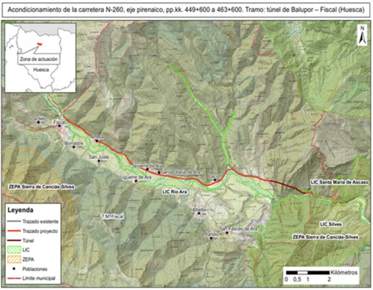 Mitma aprueba el expediente de información pública del proyecto de acondicionamiento de la N-260 entre el túnel de Balupor y Fiscal