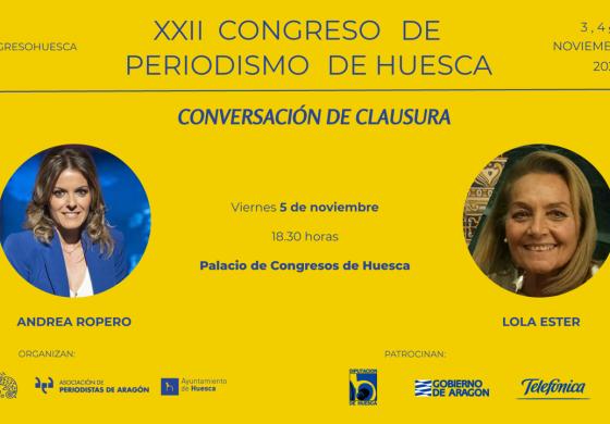 Andrea Ropero clausurará el XXII Congreso de Periodismo de Huesca